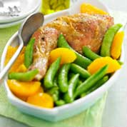 Poulet_orange_pois_gourmand