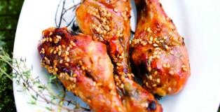 Cuisses de poulet Label Rouge au sesame et sauce soja