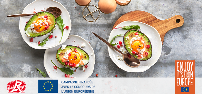 Avocado boats aux oeufs Label Rouge