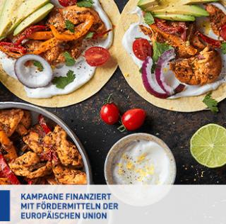 Mini-Tacos mit Hühnchenfilets